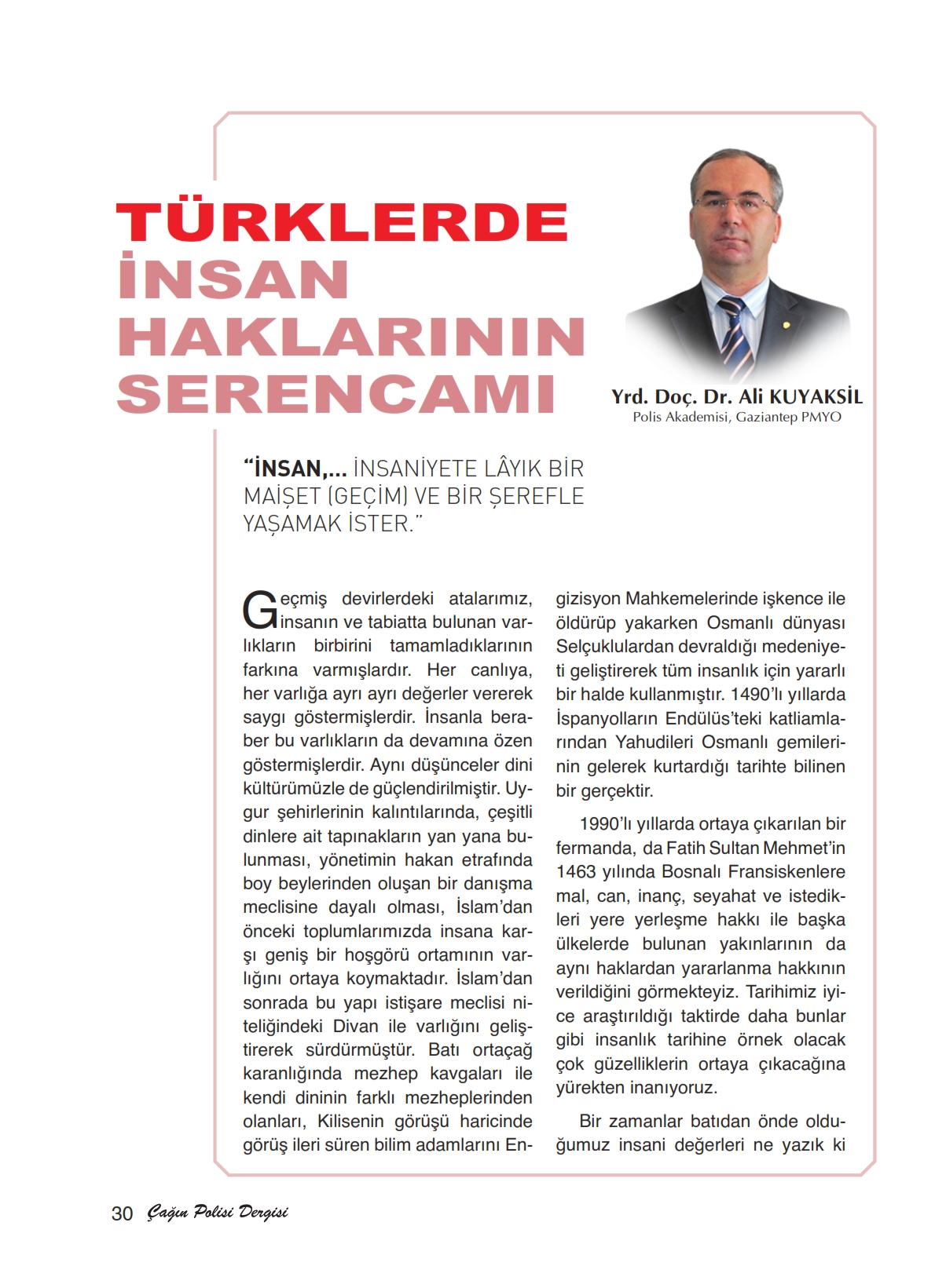 Türklerde İnsan Haklarının Serencamı