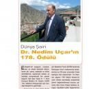 Dünya Şairi Dr.Nedim Uçar'ın 178. Ödülü